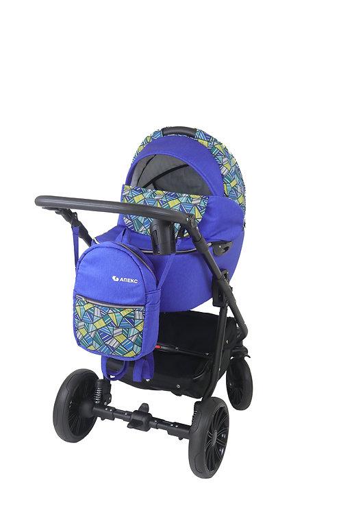 Детская коляска Спорт синяя абстракция