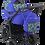 Thumbnail: Детская коляска Спорт синяя абстракция