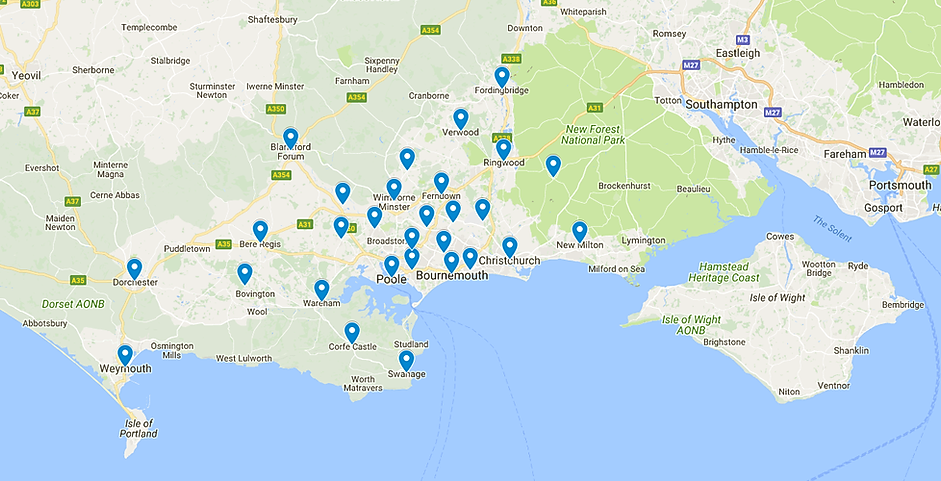 this is a map of Dorset