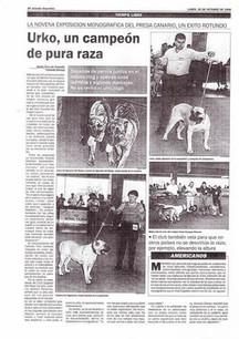 History of the Presa Canario