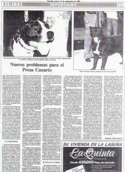 historical presa canario document