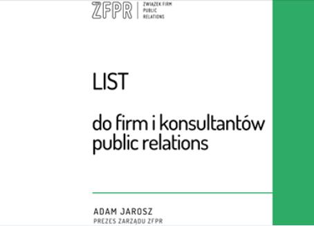 List Prezesa Zwiazku PR