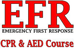, Emergency First Response, EFR  CPR AED