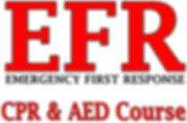 , Emergency First Response, EFR  CPR & AED