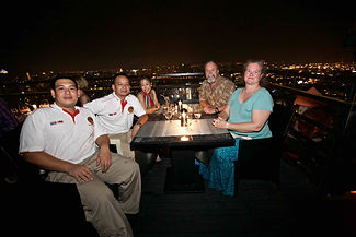 Enjoying dinne on the 61st floorof the Banyan Tree, Bangkok