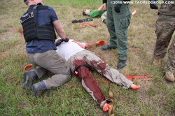 TCCC Student and bloodied victim