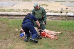 TCCC Students aids a victim