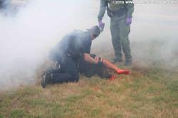 Smoke on scene