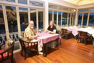 Dinner on the river at Dheva Mantra Resort, Kanchanaburi Thailand