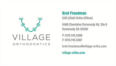 Village Ortho Business Card