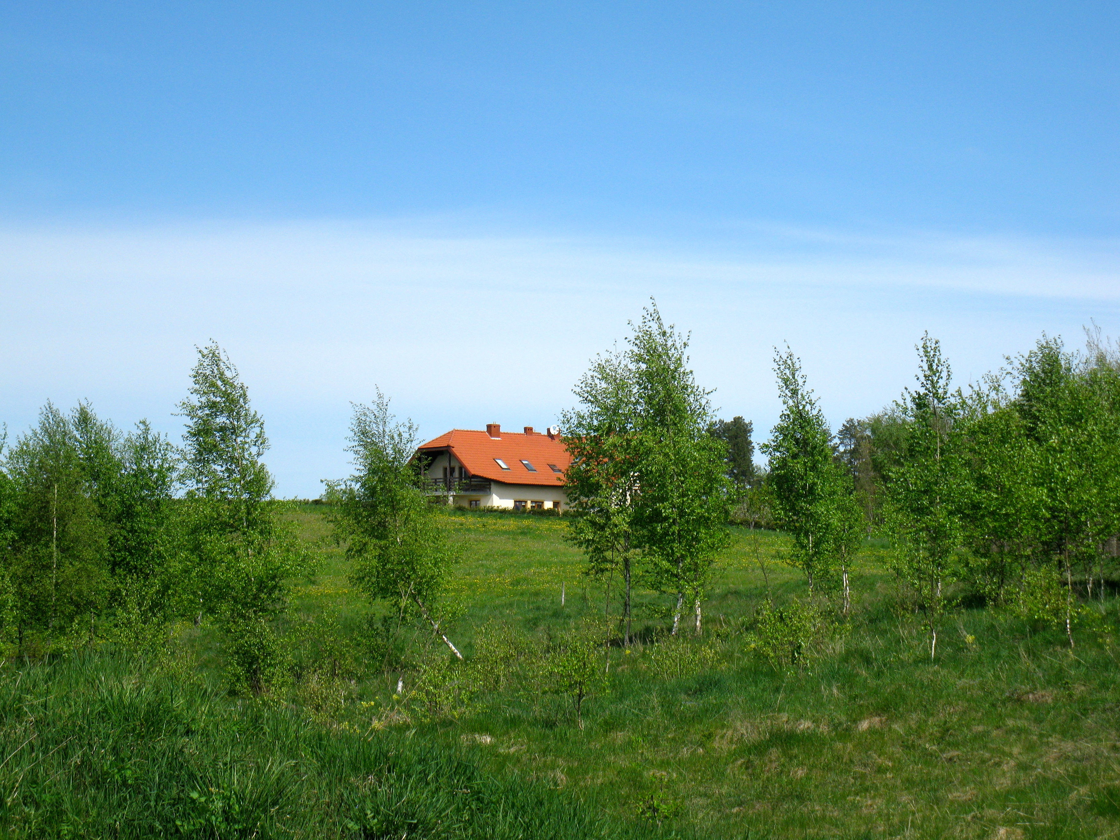Dom od strony rzeki Łyna