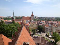 Panorama Olsztyna z wieży zamku