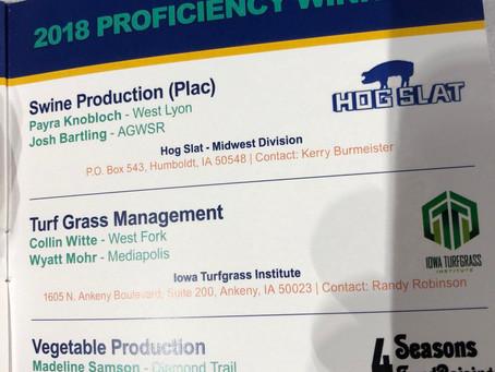 ITI Presents FFA Proficiency Award