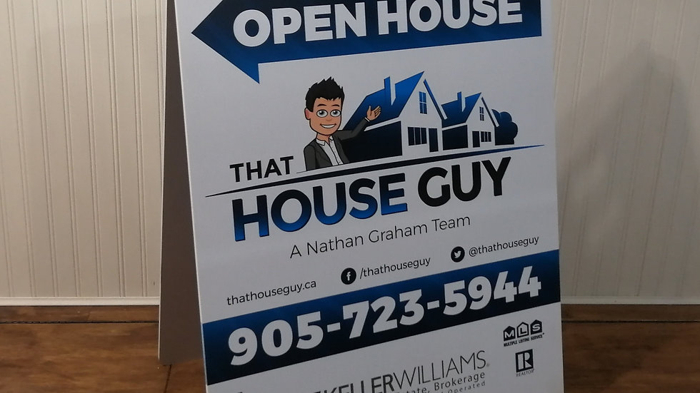 Large Open House A-Frame sign