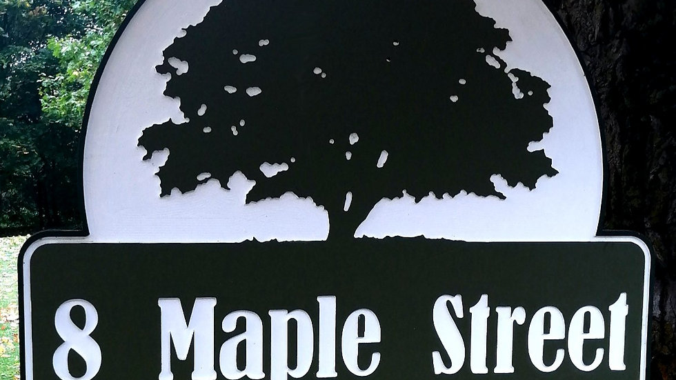 "CNC Carved Outdoor Sign 24"" x 36"" x 1.5"""