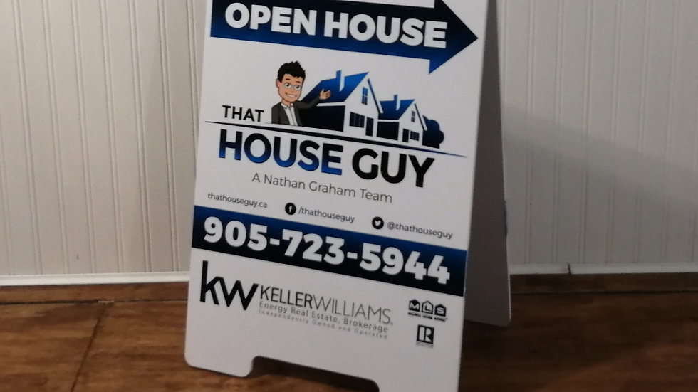 Small Open House A-Frame sign