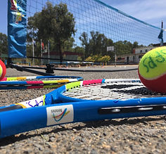 Adult group tennis coaching