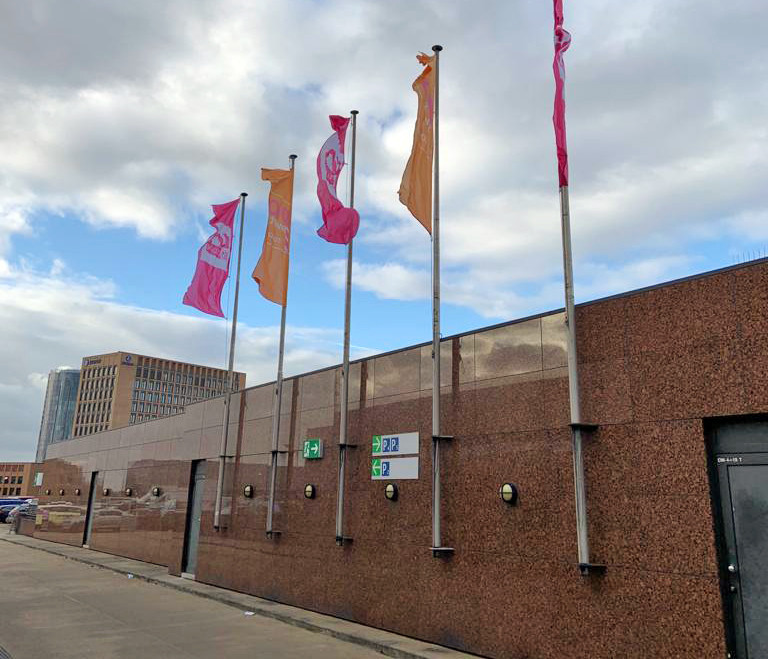 Photo of exterior of ISM Cologne trade show in 2020