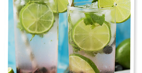 Bottoms-up! with Sugar-free Blueberry Mojitos