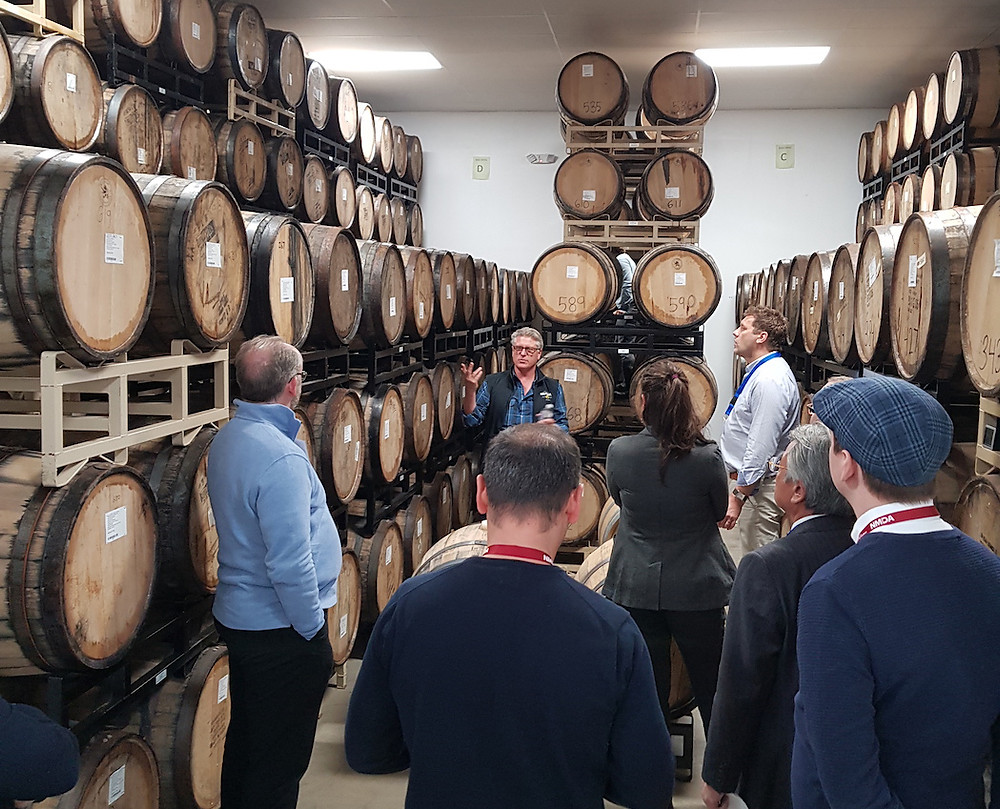Photo of group of TradeScope's European beverage buyers in a brewery tasting