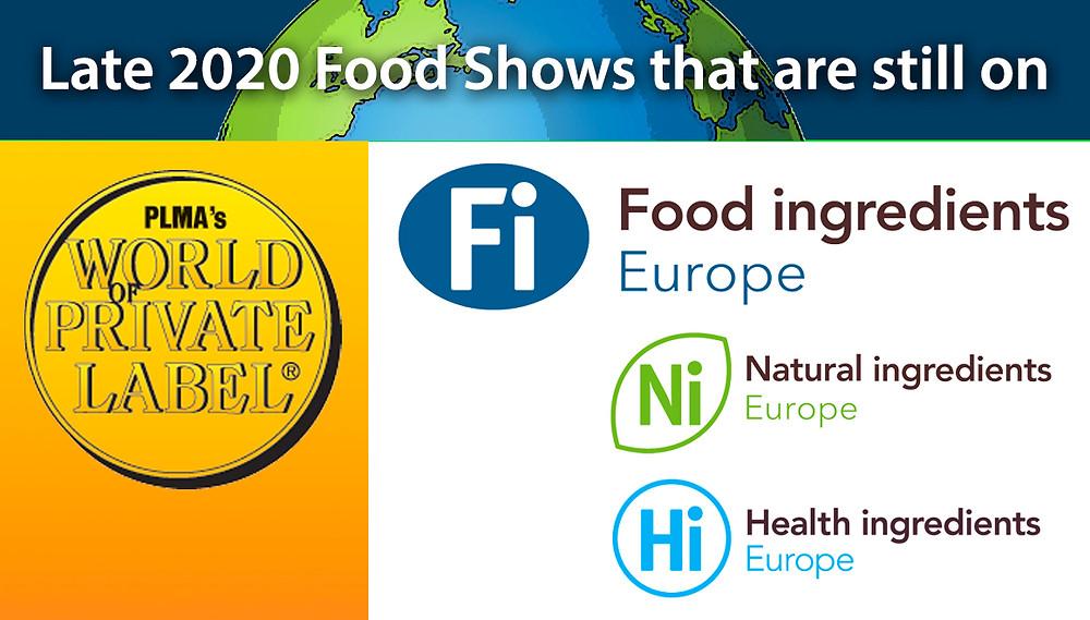 PLMA and Fi Europe food show logos