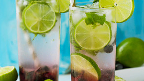 Sugar-free Blueberry Mojitos get our vote!