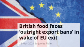 UK facing food export bans due to Brexit