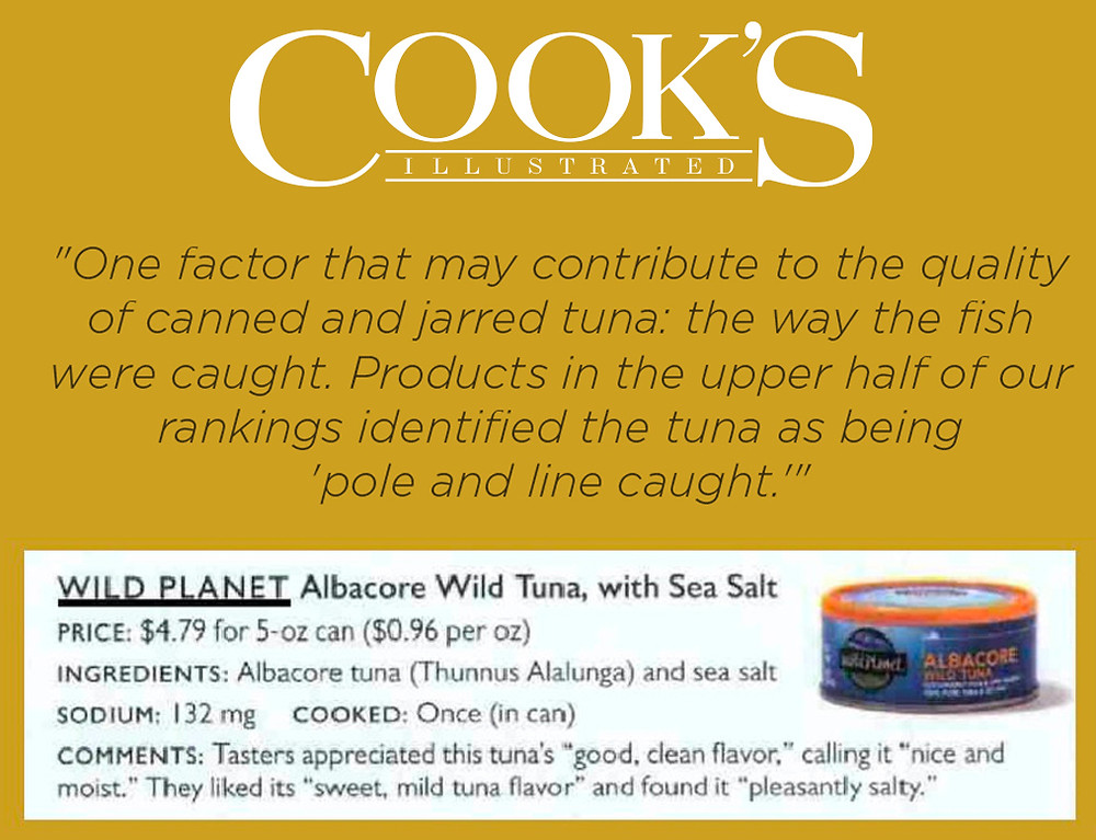 Cook's Illustrated Photo about Wild Plane Tuna being a top pick