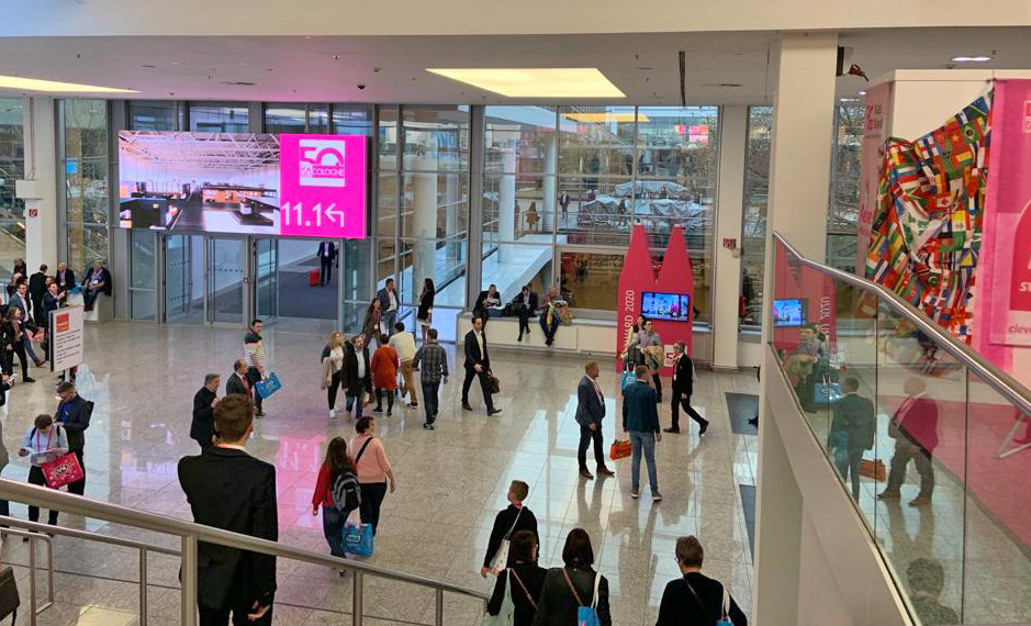 Photo of entrance hall to ISM-Cologne 2020 trade show