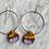 Thumbnail: Australian Brown MalleeBurl Wood & Resin Loop Earrings