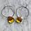 Thumbnail: Australian Brown Mallee Burl Wood & Resin Loop Earrings