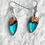 Thumbnail: Cherry Wood Burl Wood & Resin Earrings with a Sterling Silver Clasp