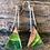 Thumbnail: Green Australian Mallee wood & dyed resin earrings.