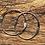 Thumbnail: Mid Century Modern style sterling silver hoop earrings.