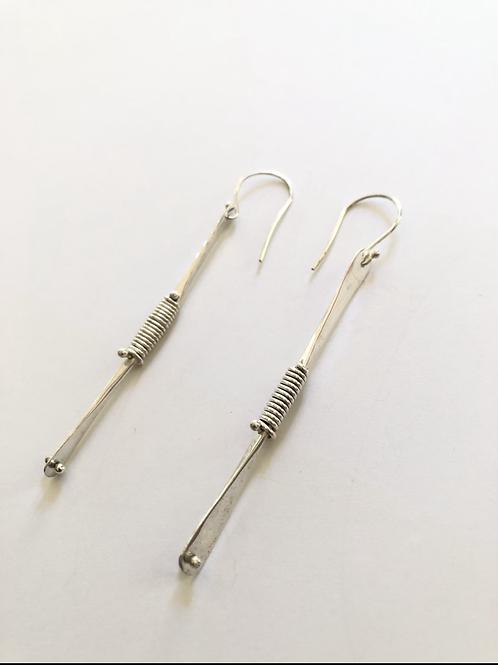 Sterling silver banded earrings