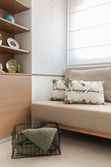Hóspedes Office - Primeiro apto de um jovem casal com elementos naturais e referências urbanas