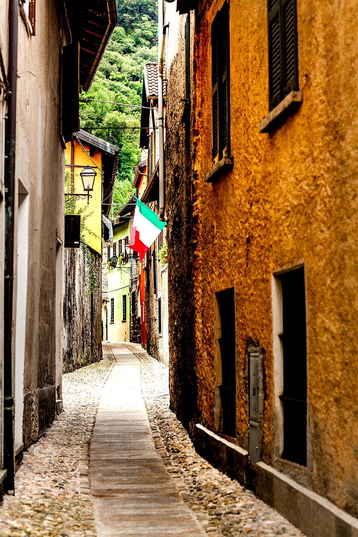 Alley in Cannobio, Lago Maggiore, Italy