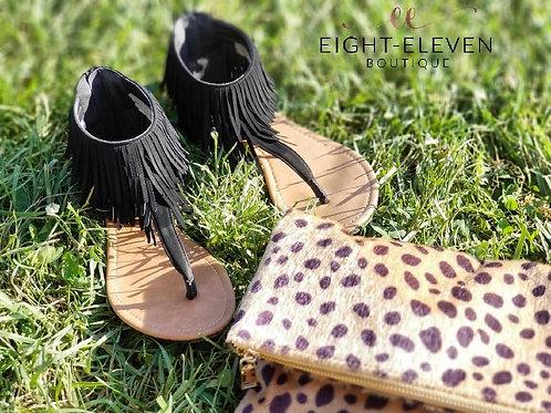 Fringe-ship Sandals