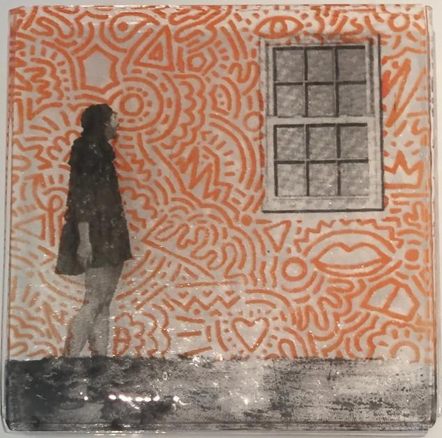 Day Dreaming...     Silkscreen on Glass