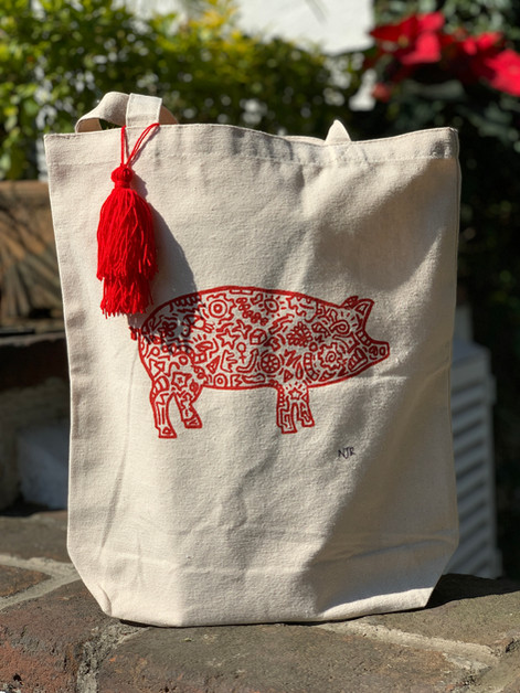 Lucky Pig Totes