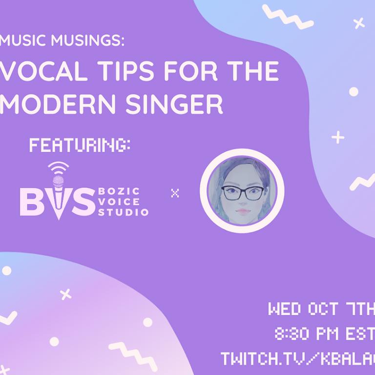 Music Musings with Kim Balao Featuring Richard Bozic of BVS