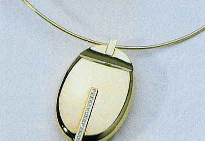 Pendent - Gold, Diamond and Onice