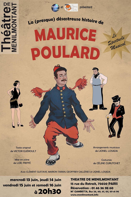 L'affiche de création de Maurice Poulard