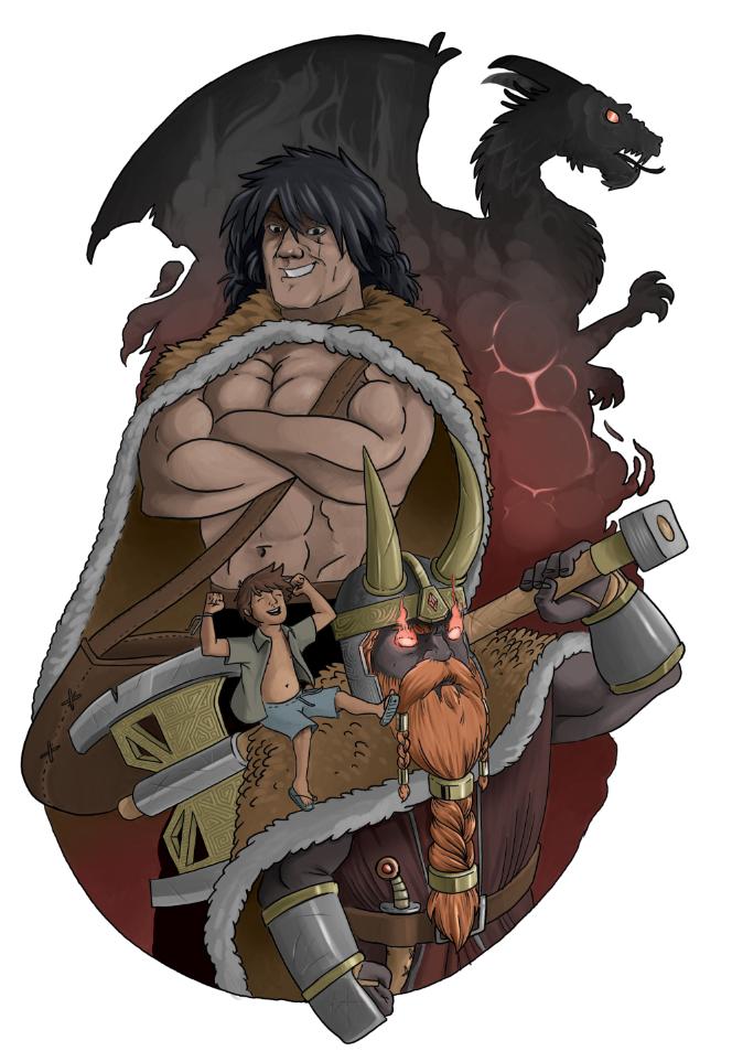 Zeca, Svar, Brunnhardt e os dragões!