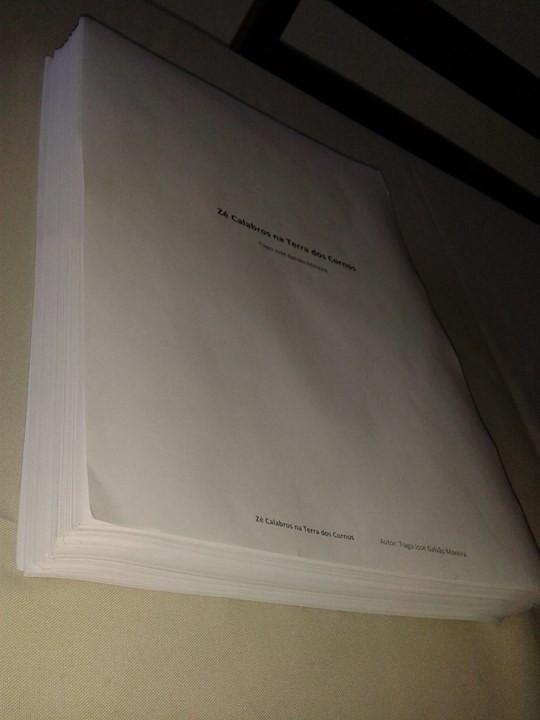 A versão do livro enviada à Biblioteca Nacional