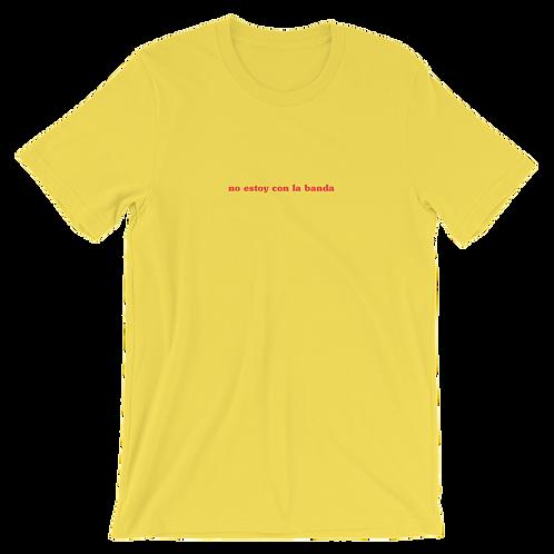 camiseta no estoy con la banda