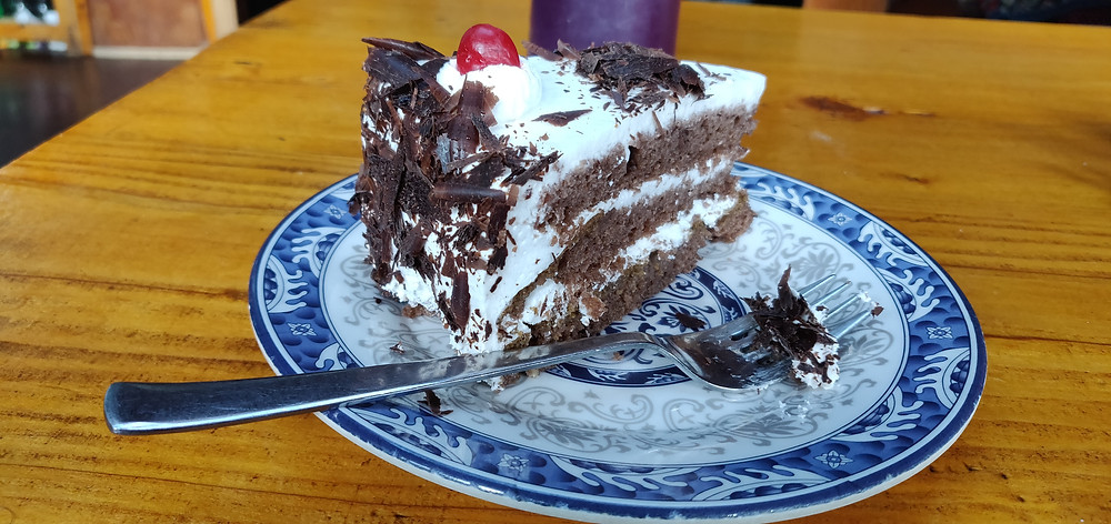 A delicious black forest pastry