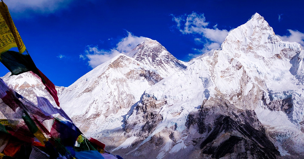 View of Mount Everest and Nuptse from Kala Patthar