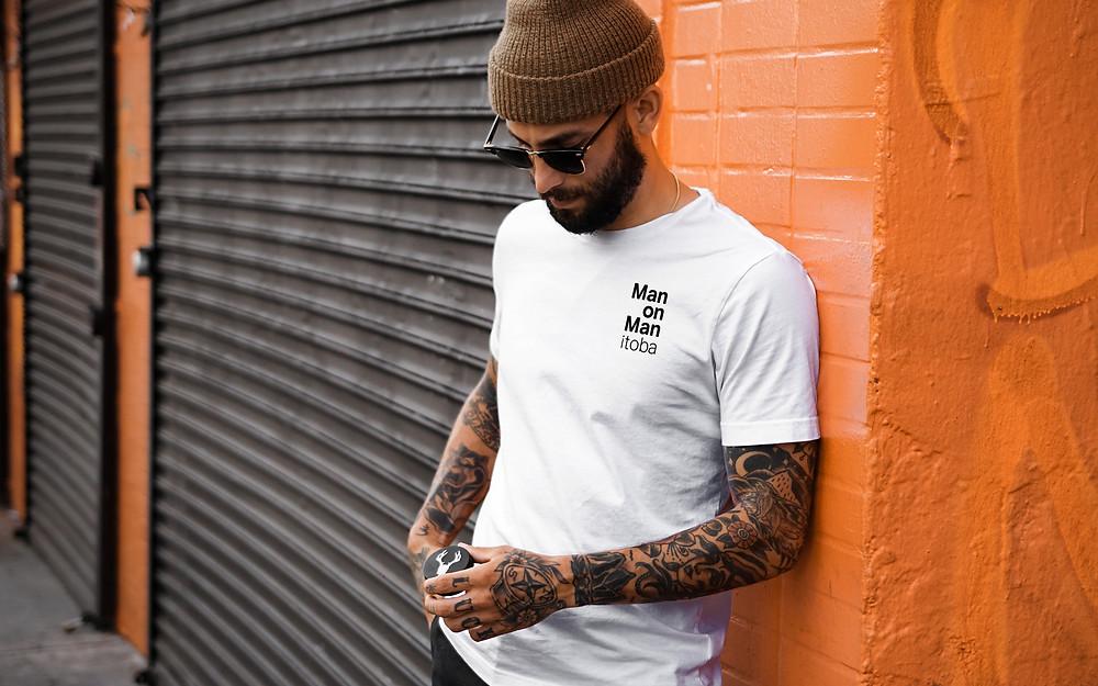 Man on Manitoba Shirt