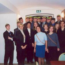 """Literāli muzikālais vakars """"J. Poruka jaunrade"""" viesojoties pie korporācijas Selonija, 18.01.2002."""